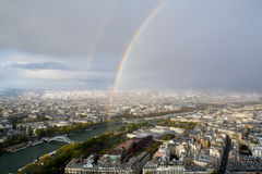 Rainbow over Paris Stock Photo