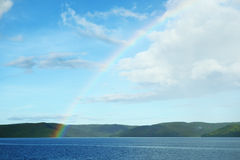 Rainbow over the Philippine Sea Royalty Free Stock Photo