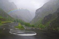 Rainbow over the Picos de Europa Stock Photo