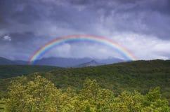 Rainbow over the Picos de Europa Royalty Free Stock Photography