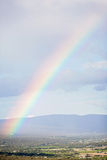 Rainbow over Provence aerial view Royalty Free Stock Photo
