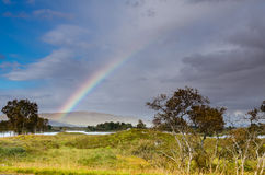 Rainbow over Rannoch Moor Royalty Free Stock Image