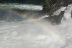 Rainbow over Rhine Falls, Switzerland Royalty Free Stock Photography