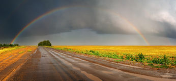 Free Rainbow Over Road Stock Images - 4060624