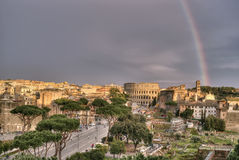 Rainbow over Rome Royalty Free Stock Photos