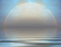 Rainbow over the sea Royalty Free Stock Photography