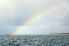 Rainbow over Sea Royalty Free Stock Image