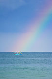 Rainbow over the sea Royalty Free Stock Photos