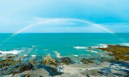 Rainbow Over Sea Stock Photography