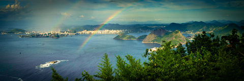 Rainbow over sea Royalty Free Stock Photo