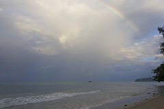 Rainbow over the sea Stock Photo