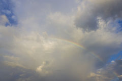 Rainbow over the sea Royalty Free Stock Photo