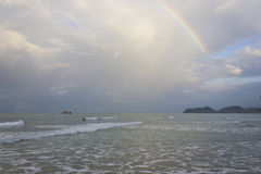 Rainbow over the sea Royalty Free Stock Photos