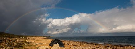 Rainbow over the sea Stock Photos