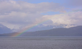 Rainbow Over Shelter Island Stock Images