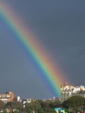 A rainbow over Southsea, portsmouth, England Stock Images