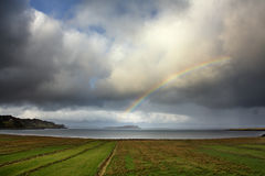 Rainbow over Staffin Island Royalty Free Stock Photo