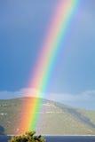 Rainbow Over The Adriatic Sea In Croatia Stock Photos