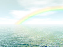 Rainbow Over The Sea Royalty Free Stock Images