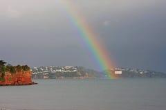 Rainbow over Torbay Stock Photo