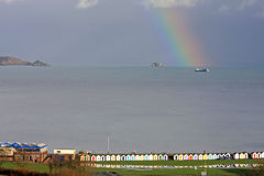 Rainbow over Torbay Stock Image
