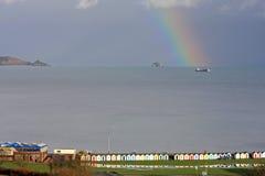 Rainbow over Torbay Stock Image