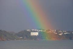 Rainbow over Torbay Royalty Free Stock Photo