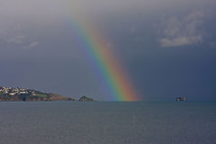 Rainbow over Torbay Royalty Free Stock Images