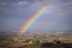 Rainbow in Tuscan countryside