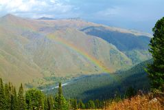 Rainbow over the Turquoise Katun Stock Images