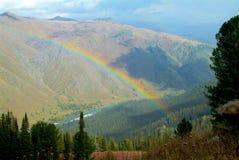 Rainbow over the Turquoise Katun Royalty Free Stock Photo
