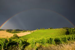 Rainbow over Tuscany Stock Photography