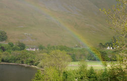 Rainbow over Ullswater Stock Image