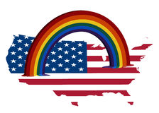 Rainbow over US Stock Photo