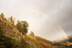 Rainbow Over Valdreu Royalty Free Stock Photo