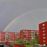 Rainbow over Varvet in Luleå Royalty Free Stock Image