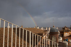 Rainbow over Vatican Stock Photography