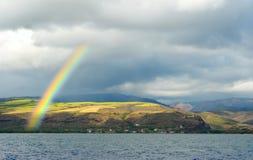 Rainbow over Waimea royalty free stock photos