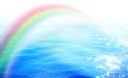 Rainbow over the water Royalty Free Stock Photo