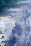 Rainbow over waterfall. American Niagara Fall with Rainbow Royalty Free Stock Photos