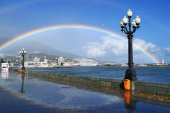 Rainbow over Yalta Royalty Free Stock Photo