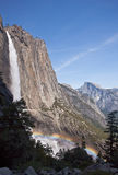 Rainbow over Yosemite Falls Royalty Free Stock Images