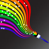 Rainbow pain brush vector Royalty Free Stock Photo