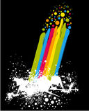 Rainbow with paint Royalty Free Stock Photography