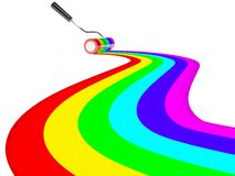 Rainbow paint Stock Images