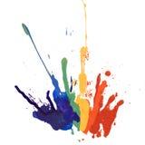 Rainbow paint Stock Photography