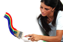 Rainbow paint Stock Photo