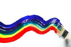 Rainbow paint Stock Photography