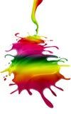 Rainbow paint Stock Photo