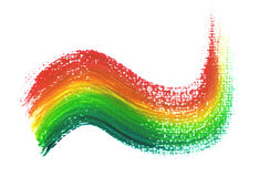Rainbow paint brush Stock Image